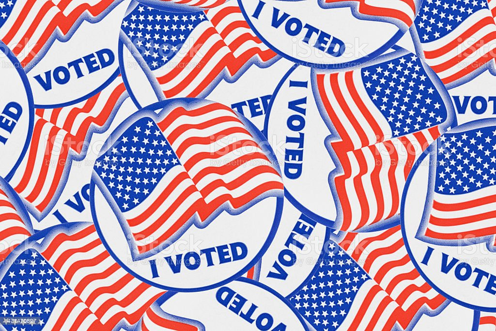 I Voted Stickers stock photo