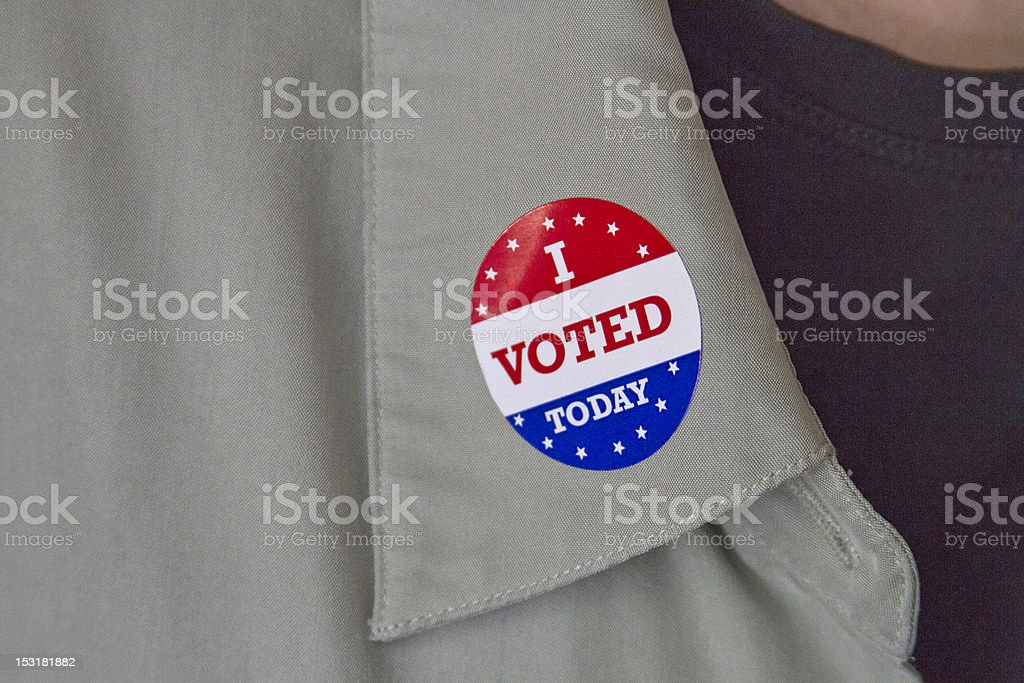 I Voted Today Lapel Sticker royalty-free stock photo
