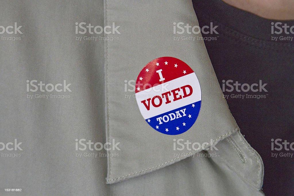 I Voted Today Lapel Sticker stock photo