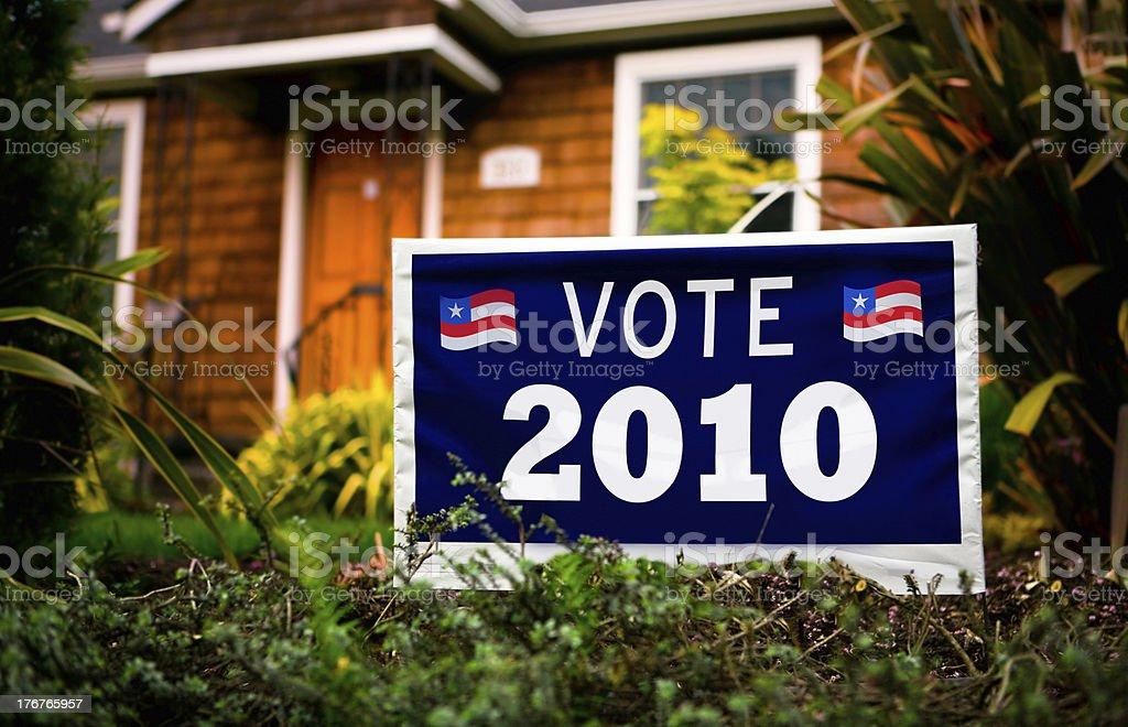 Vote/Election 2010 Sign royalty-free stock photo