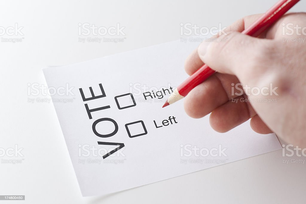 Voter Ballot Right and Left royalty-free stock photo