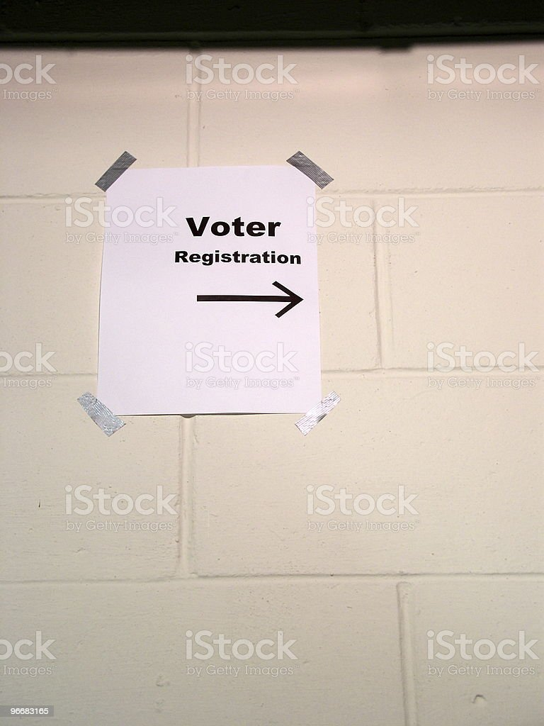 Voter Registration, Down Hall royalty-free stock photo