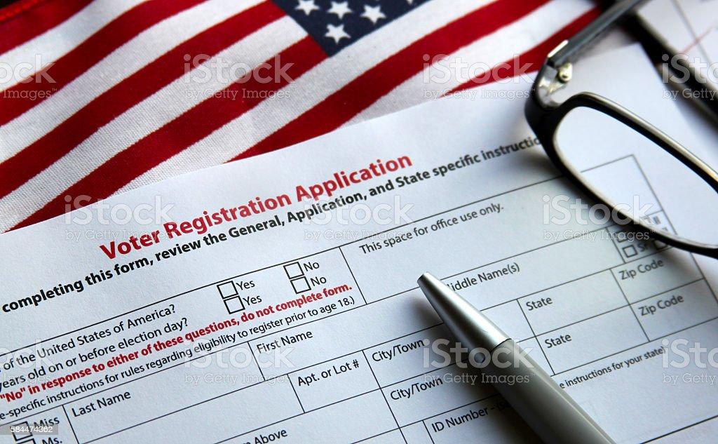 Voter Registration stock photo