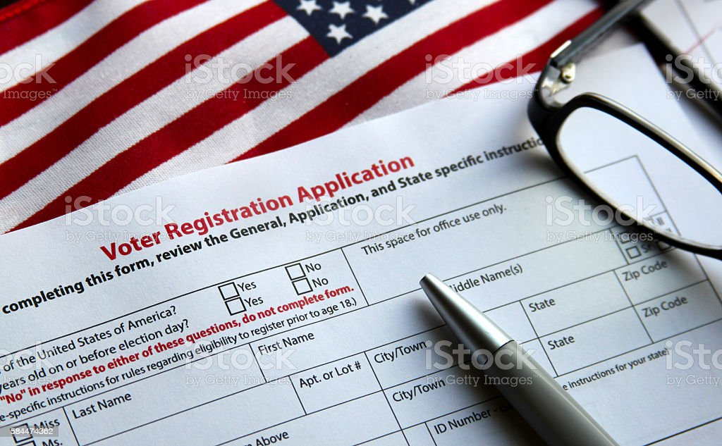Voter Registration stock photo