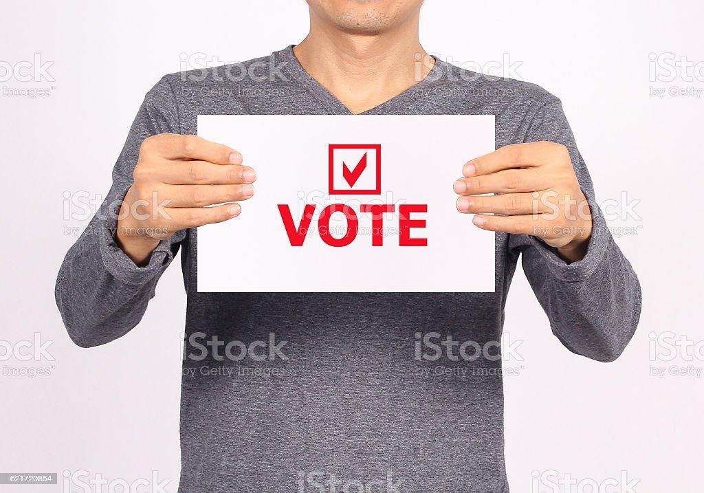 Votes. stock photo