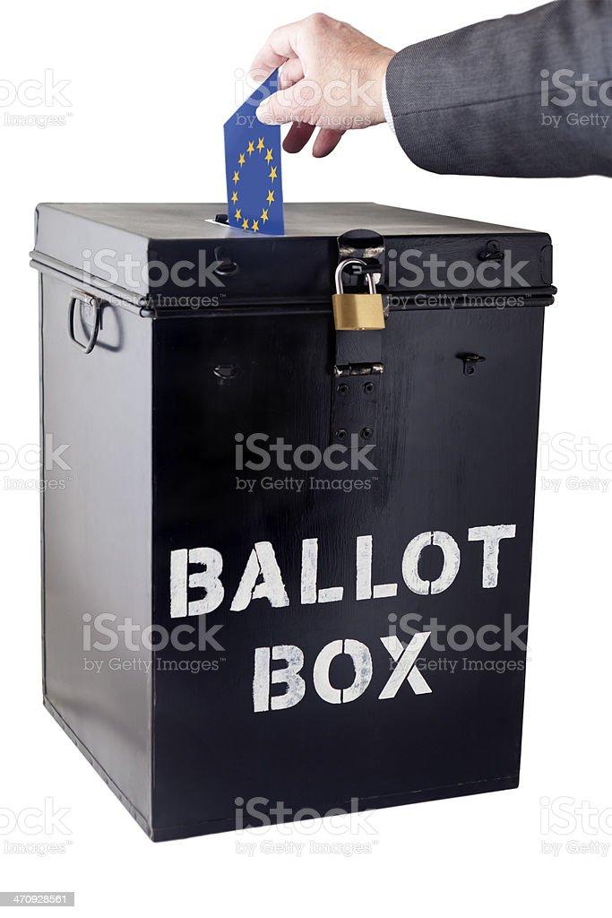 EEC Voting Ballot Box stock photo