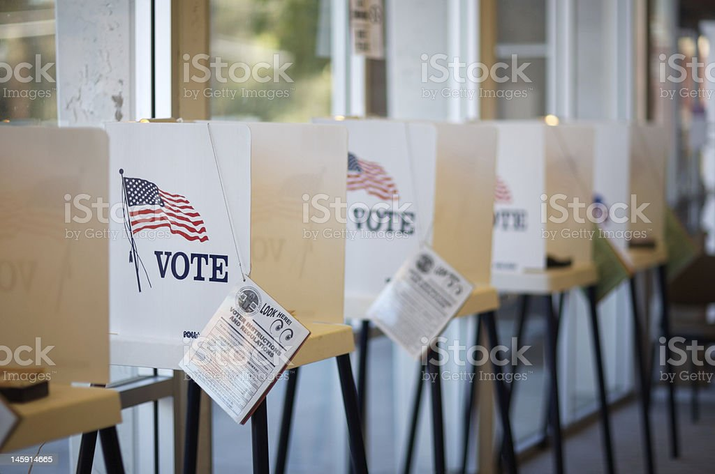 Voting Booths royalty-free stock photo