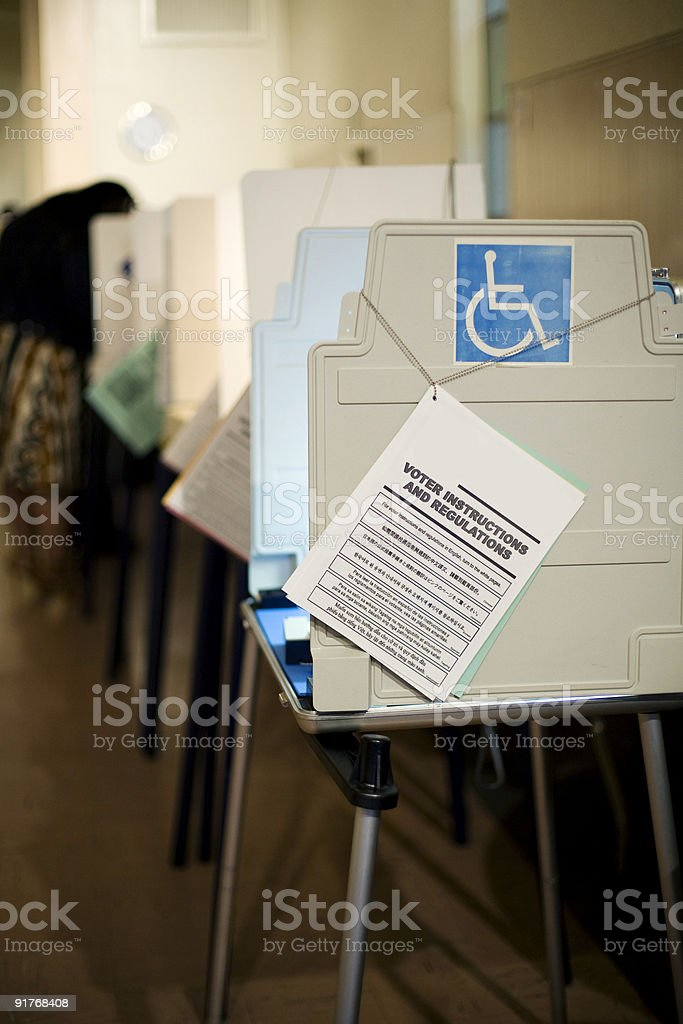 Voting Booths stock photo