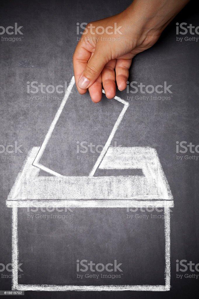 Voting concept stock photo