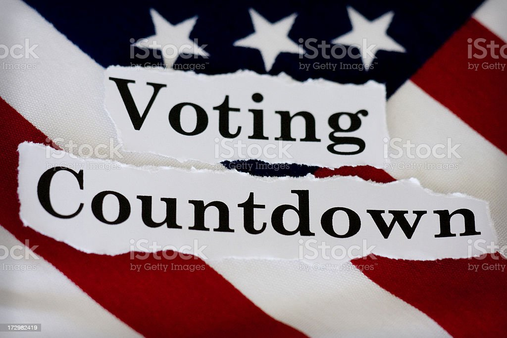 voting countdown stock photo