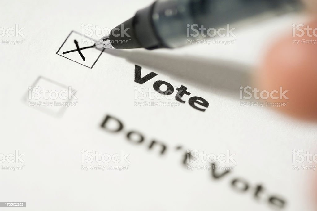 Voting decision stock photo