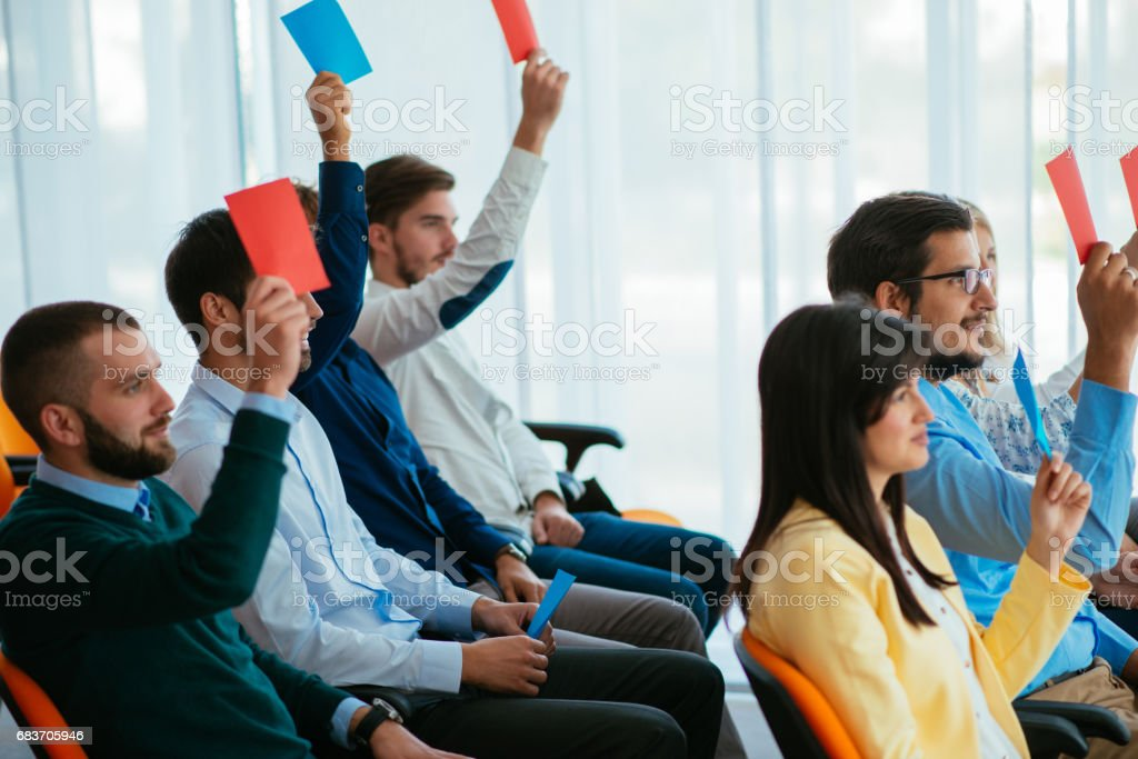 Voting for better future stock photo