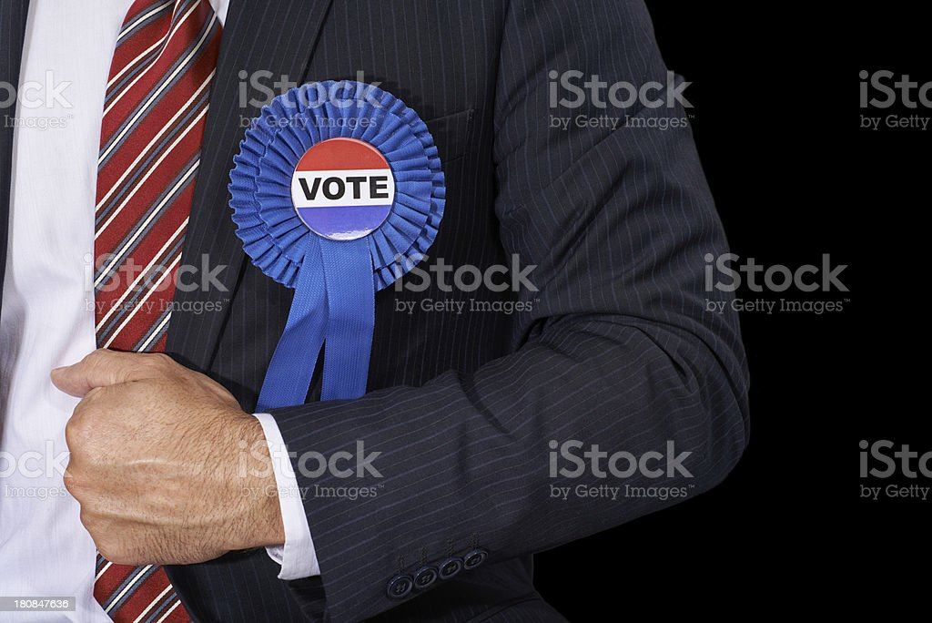 Voting for democracy stock photo
