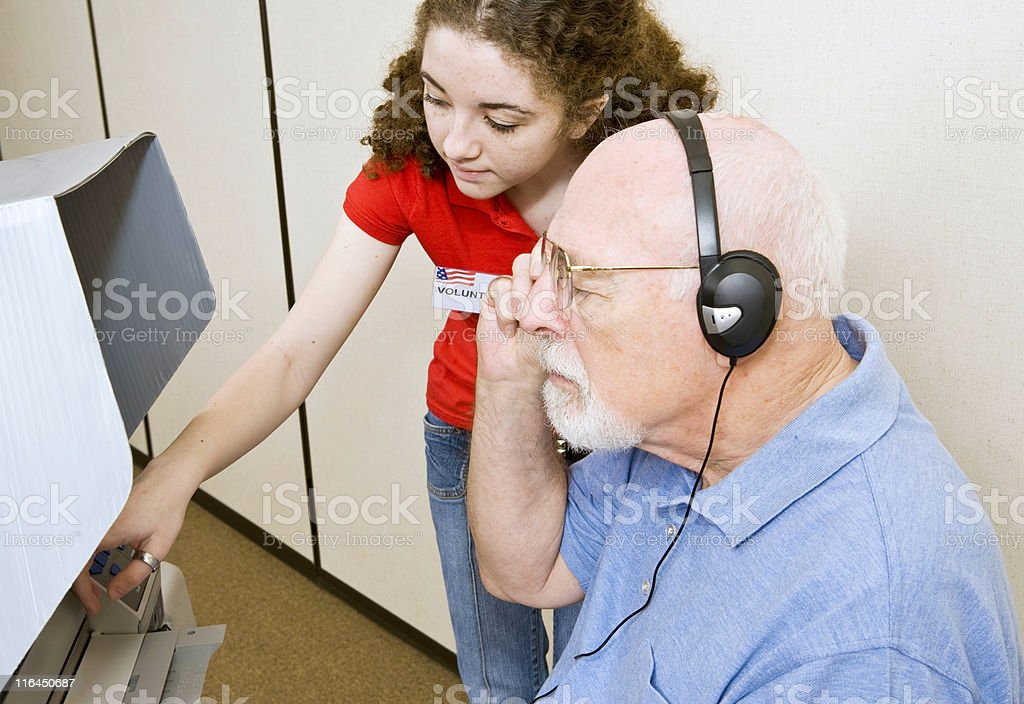 Voting for Vision Impaired stock photo