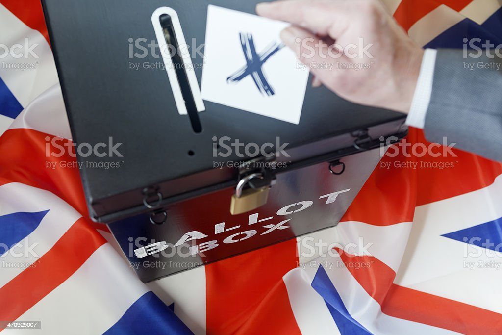 Voting in a UK Election stock photo