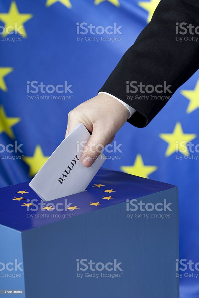 Voting in EU royalty-free stock photo