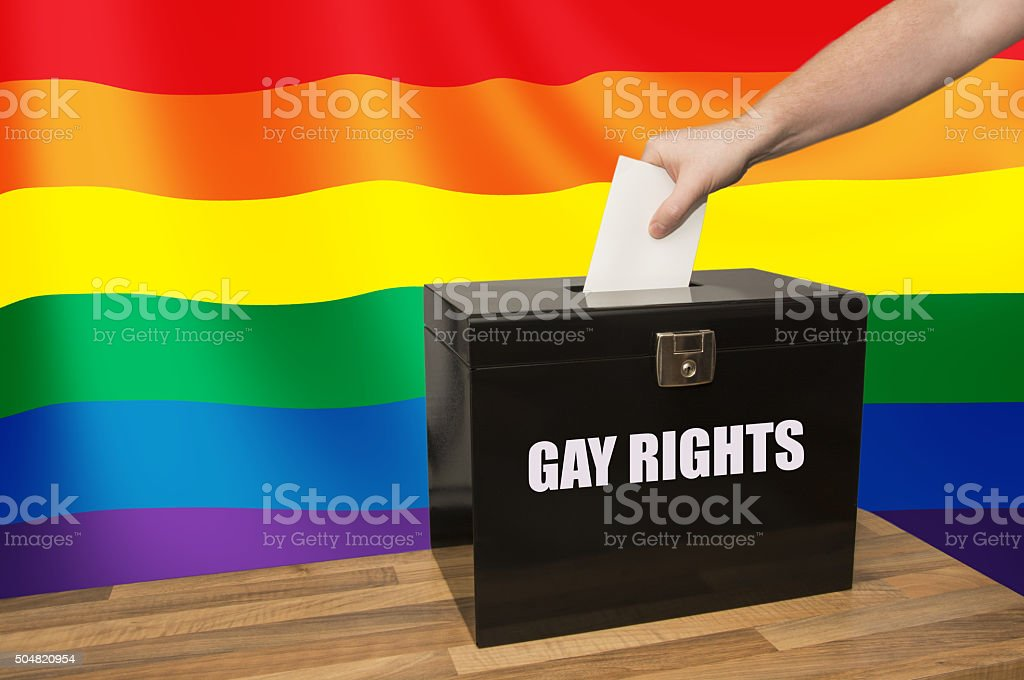 Voting on Gay Rights stock photo