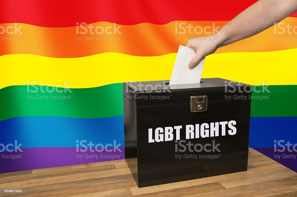 Voting on LGBT Rights stock photo