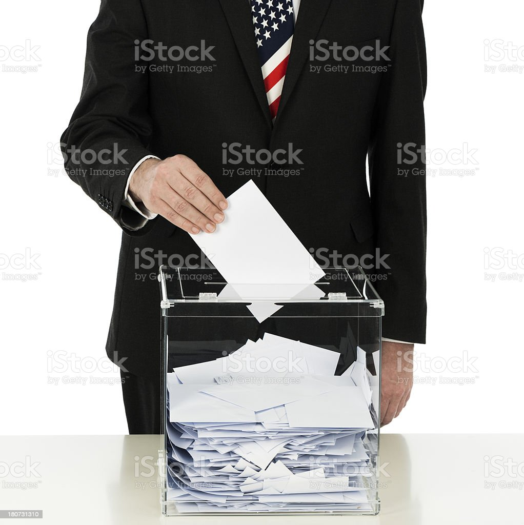 US voting royalty-free stock photo