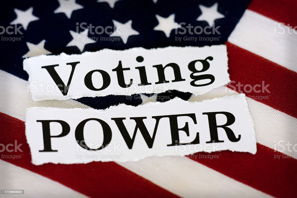 voting power stock photo