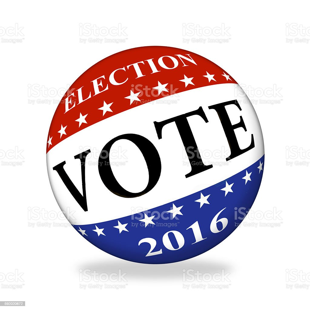 US voting sphere stock photo