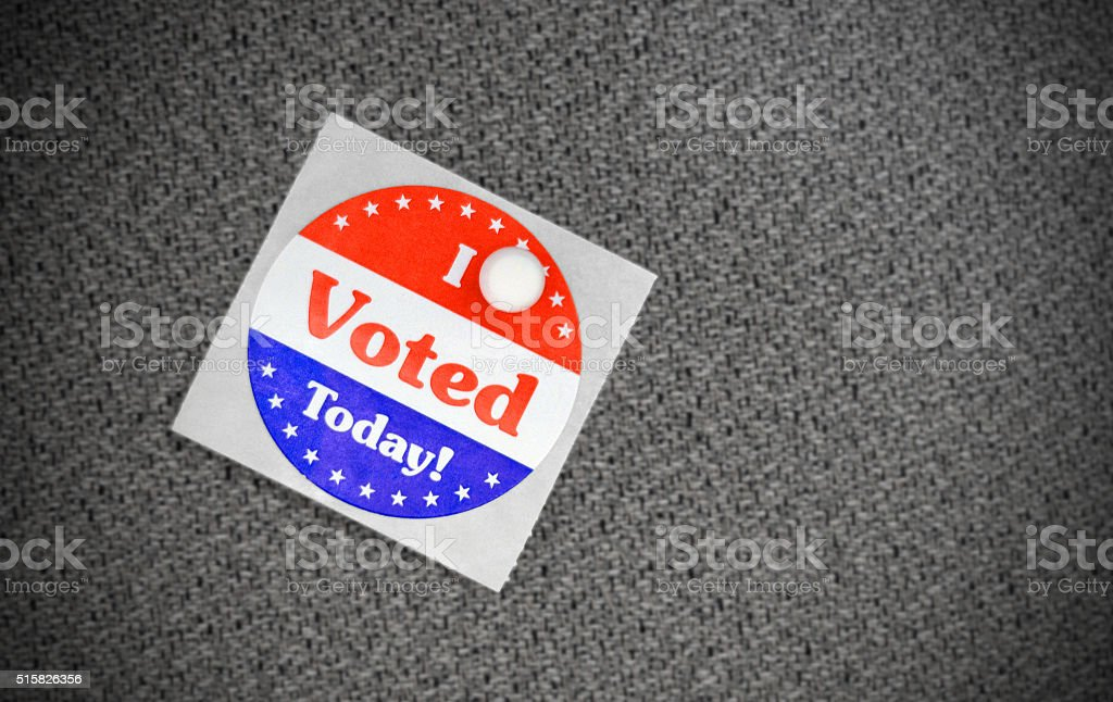 Voting sticker stock photo