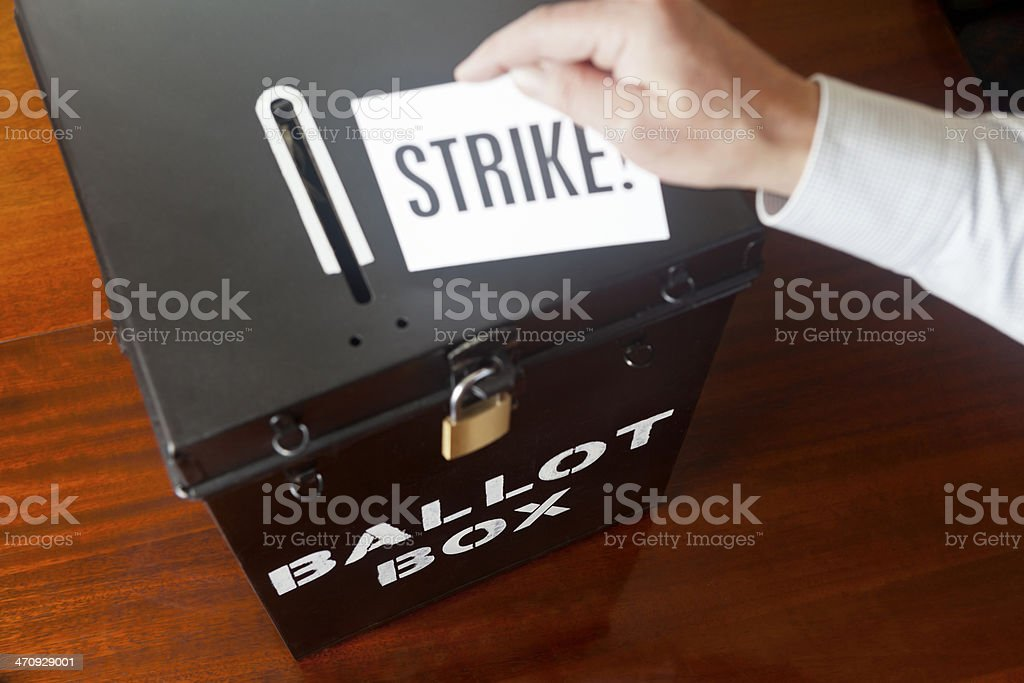 Voting to Strike stock photo