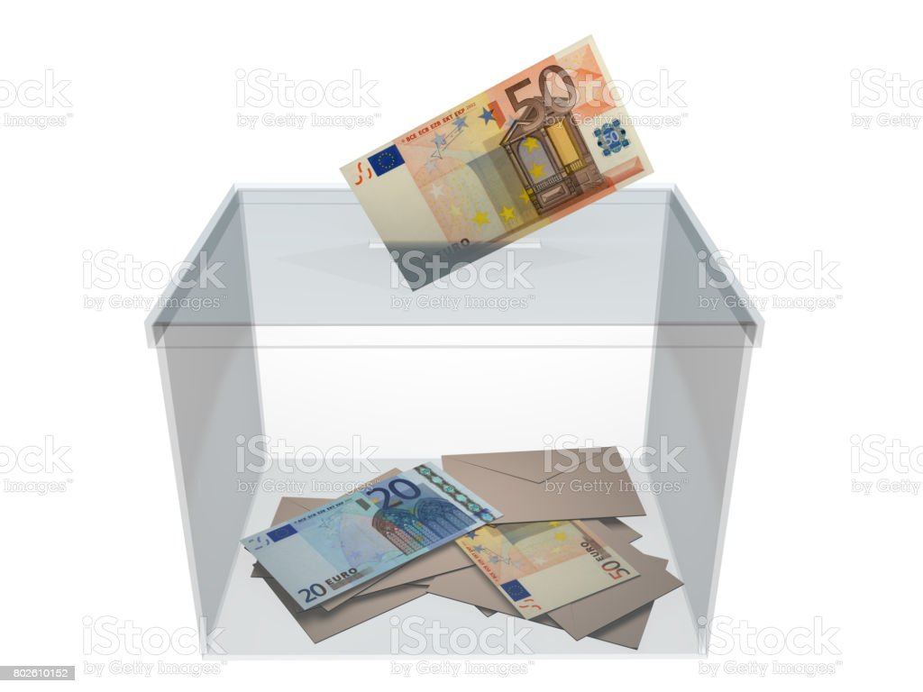 Voting with euros stock photo