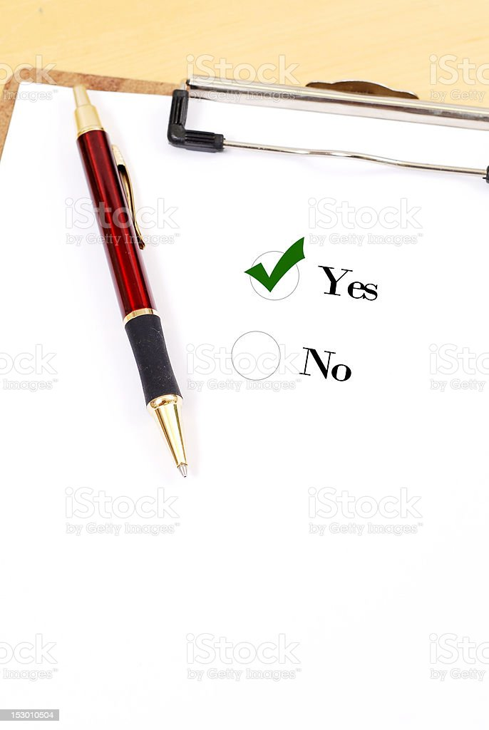 Voting Yes royalty-free stock photo