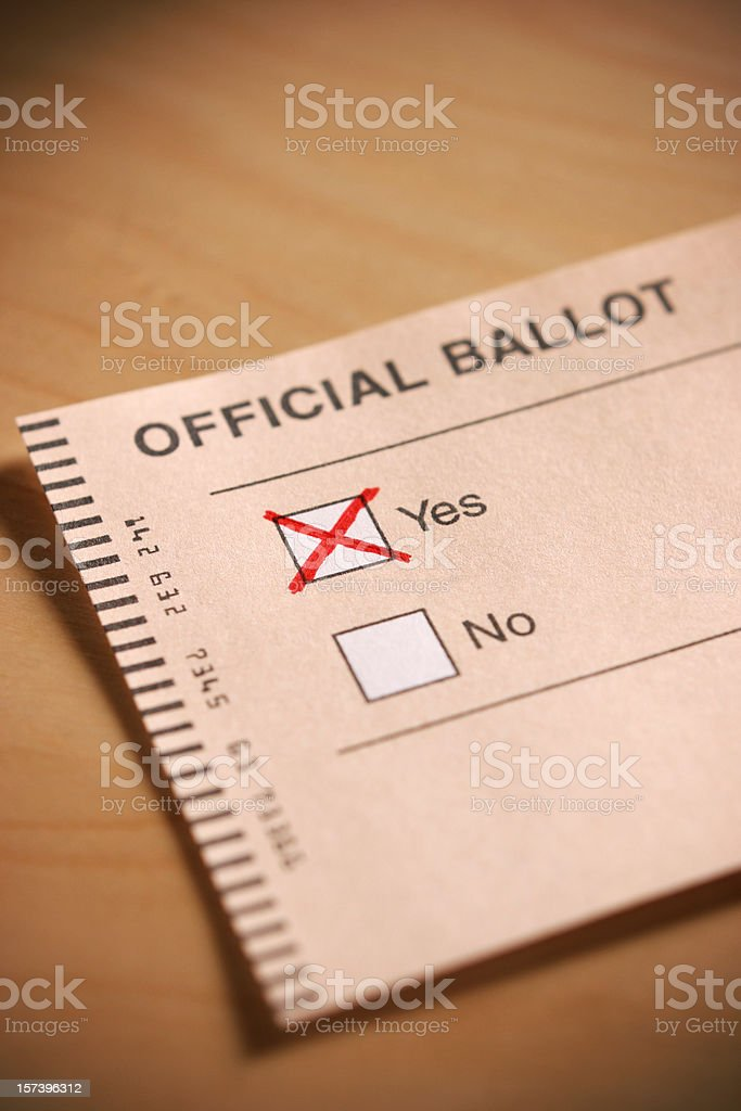 Voting Yes stock photo