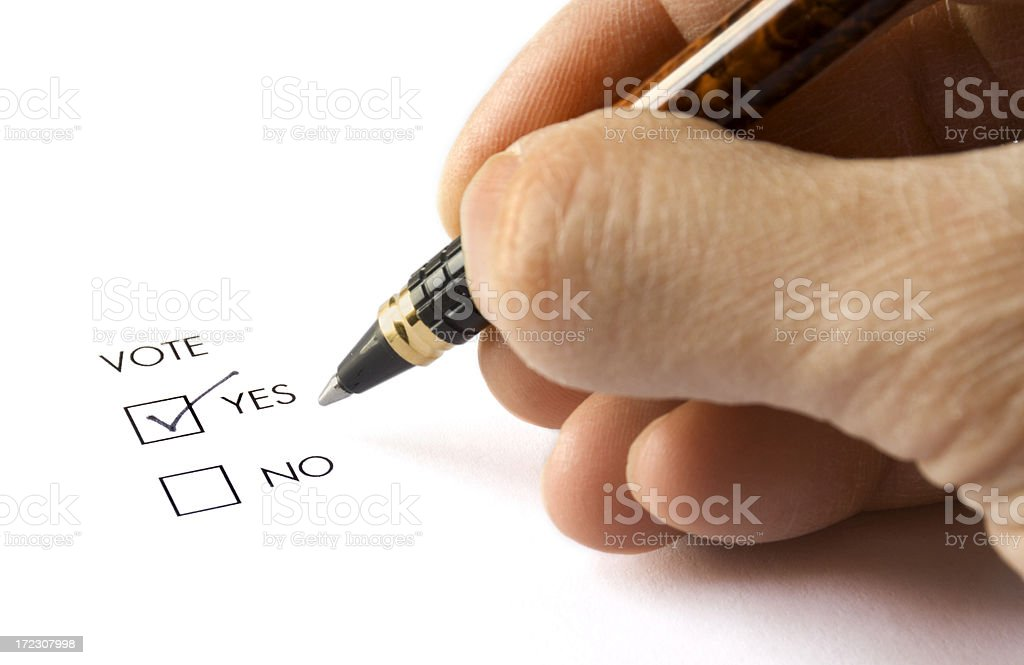 Voting 'YES' royalty-free stock photo