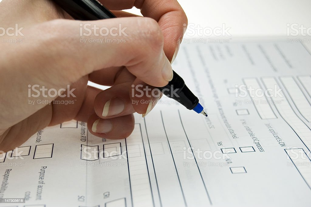 voting/application form royalty-free stock photo
