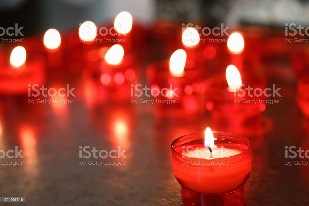 Votive candle stock photo