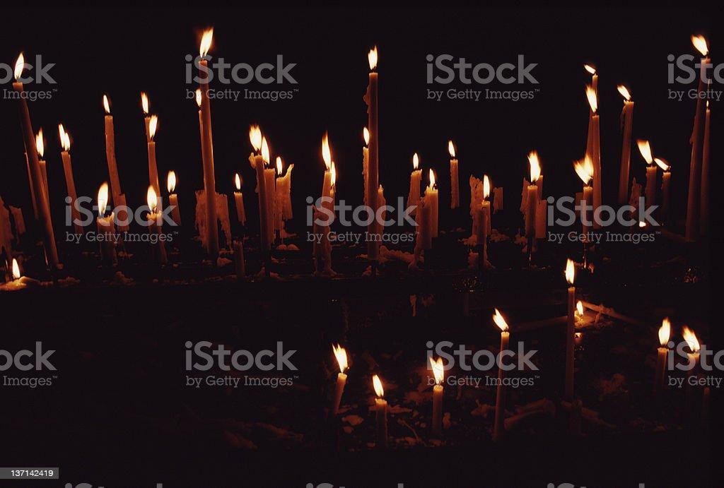 Votive Candles, Notre Dame, Paris royalty-free stock photo