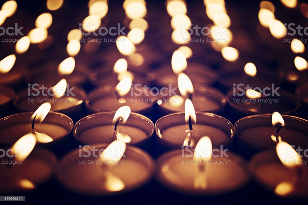 Votive Candles stock photo