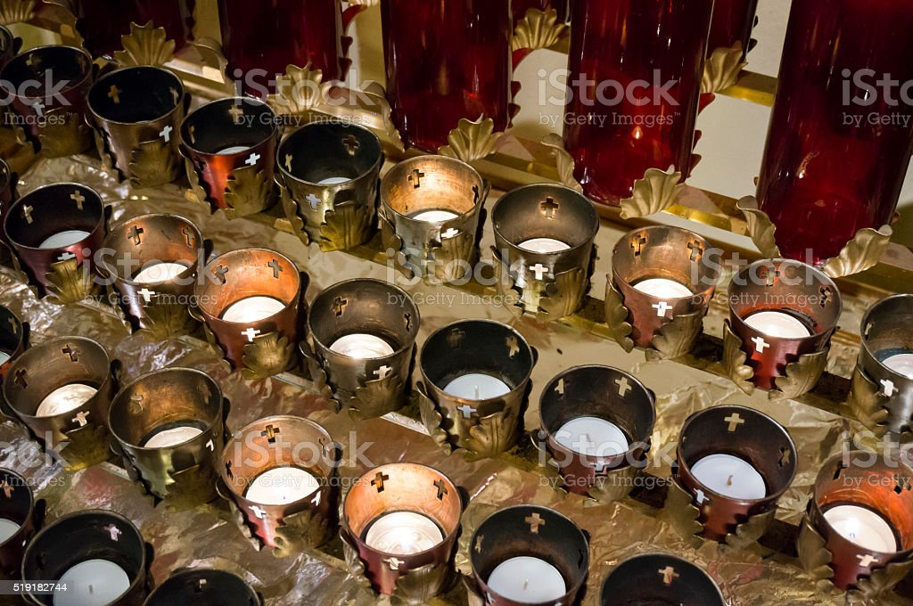 Votive Candles stock photo