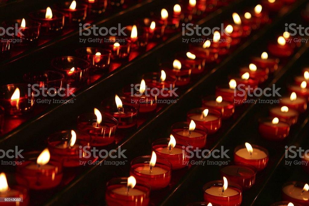 Votive Candles royalty-free stock photo