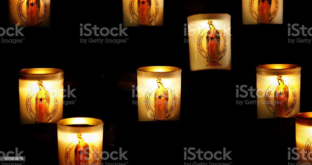 Votive candless stock photo