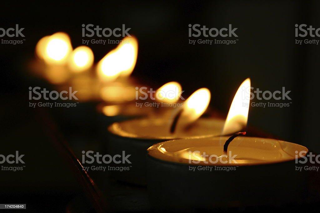 Votive Church Candles stock photo