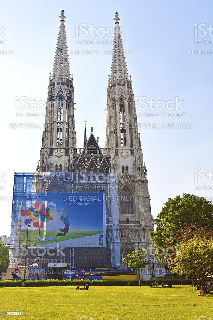 Votive Church in Vienna. stock photo