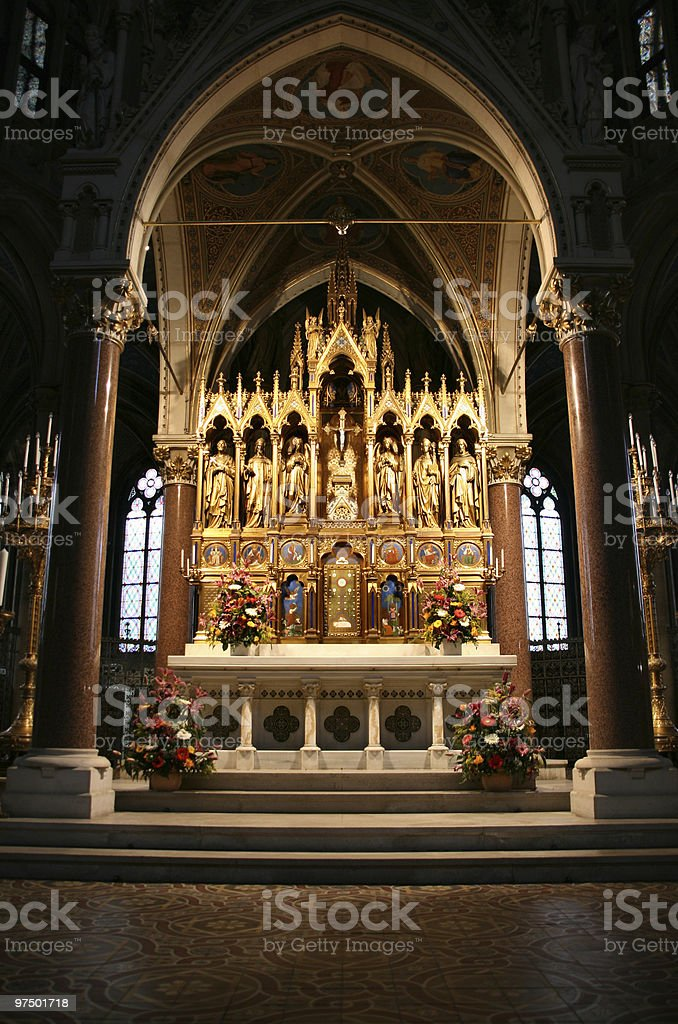Votive Church in Vienna royalty-free stock photo