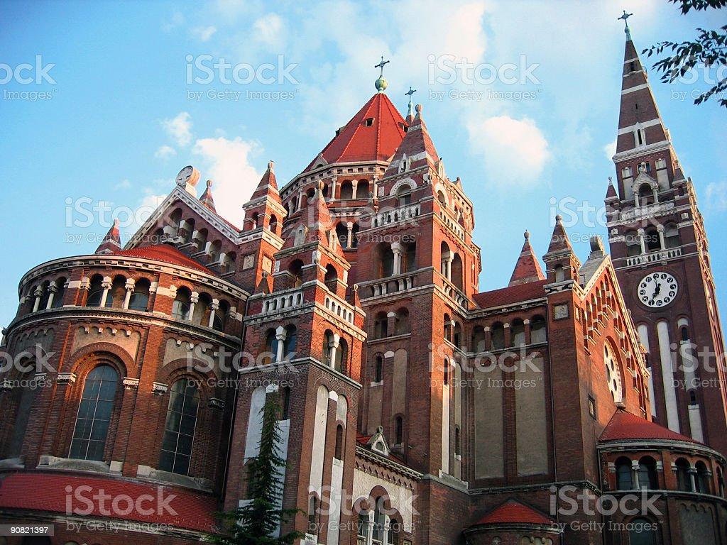 Votive Church - Szeged, Hungary royalty-free stock photo