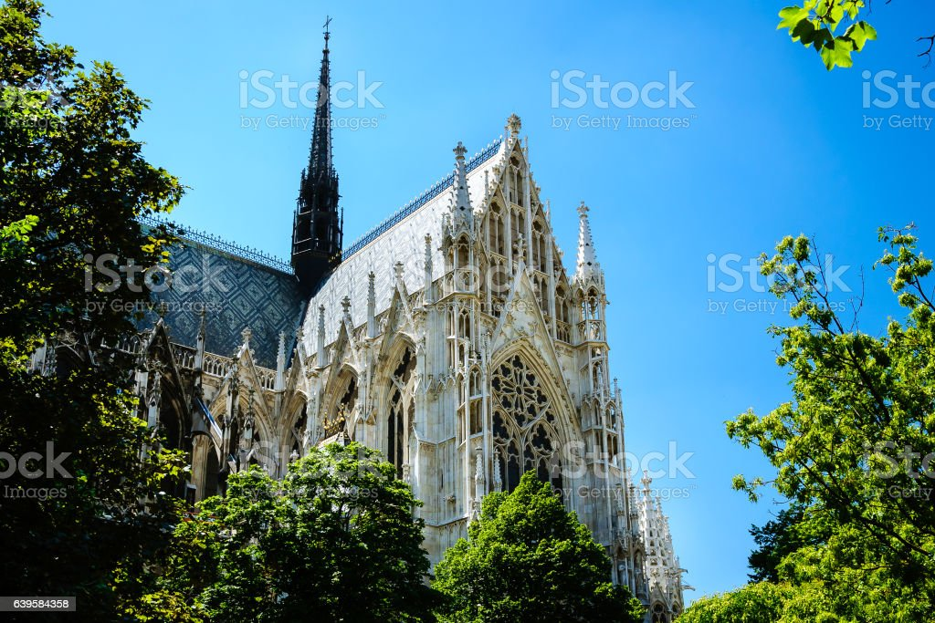 Votive Church,Vienna stock photo