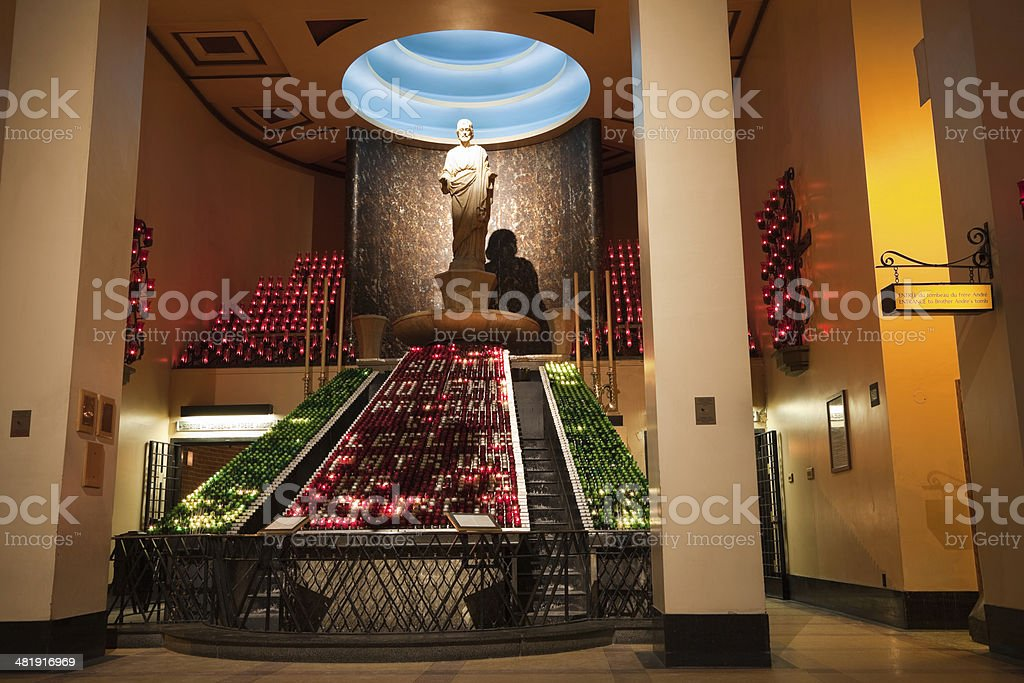 Votive or Chapel of the  Ex-votos Saint Joseph's Oratory stock photo