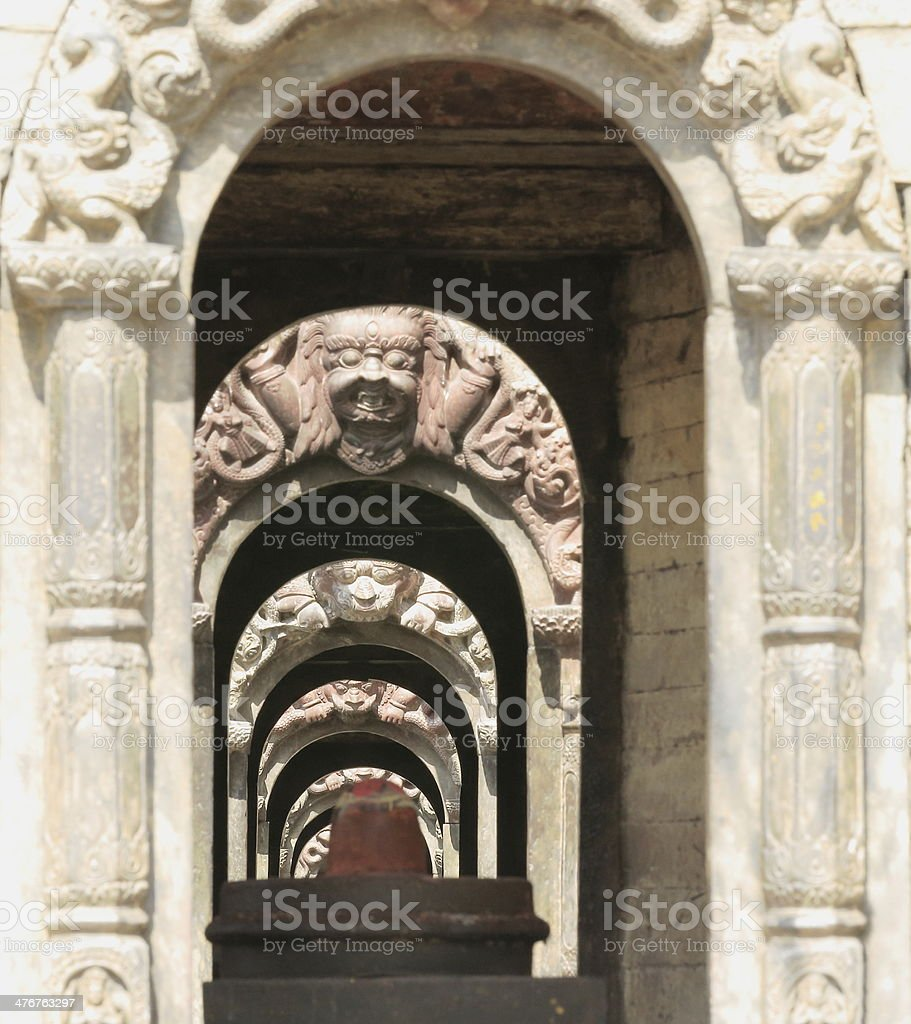 Votive shrines-Pandra Shivalaya complex-Pashupatinath temple-Deopatan-Kathmandu-Nepal. 0298 stock photo