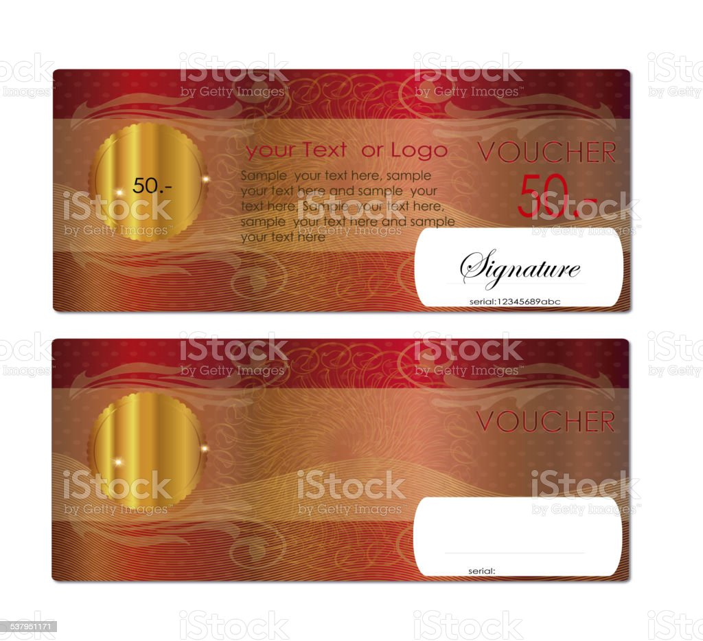 voucher / coupon , Gift certificate stock photo