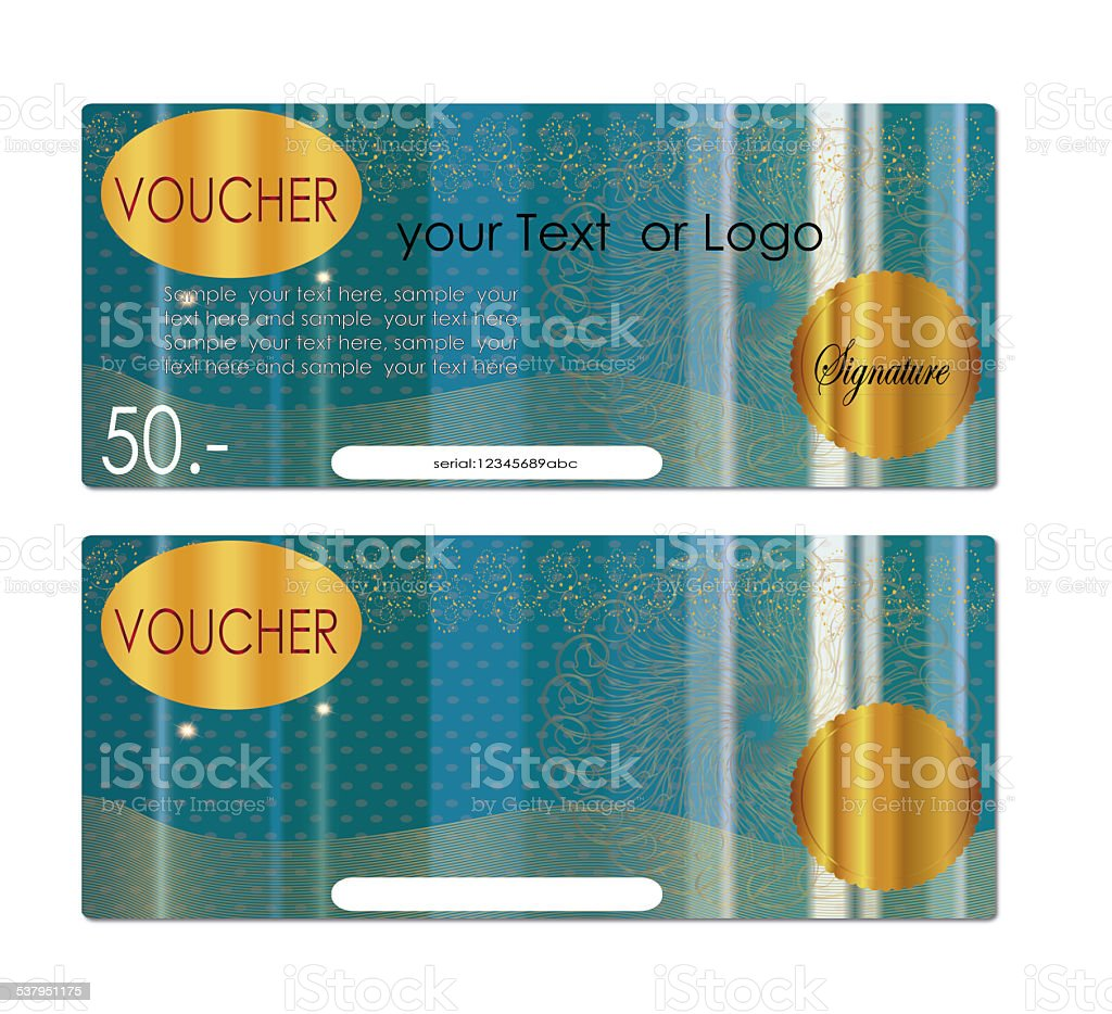 voucher  Gift certificate stock photo