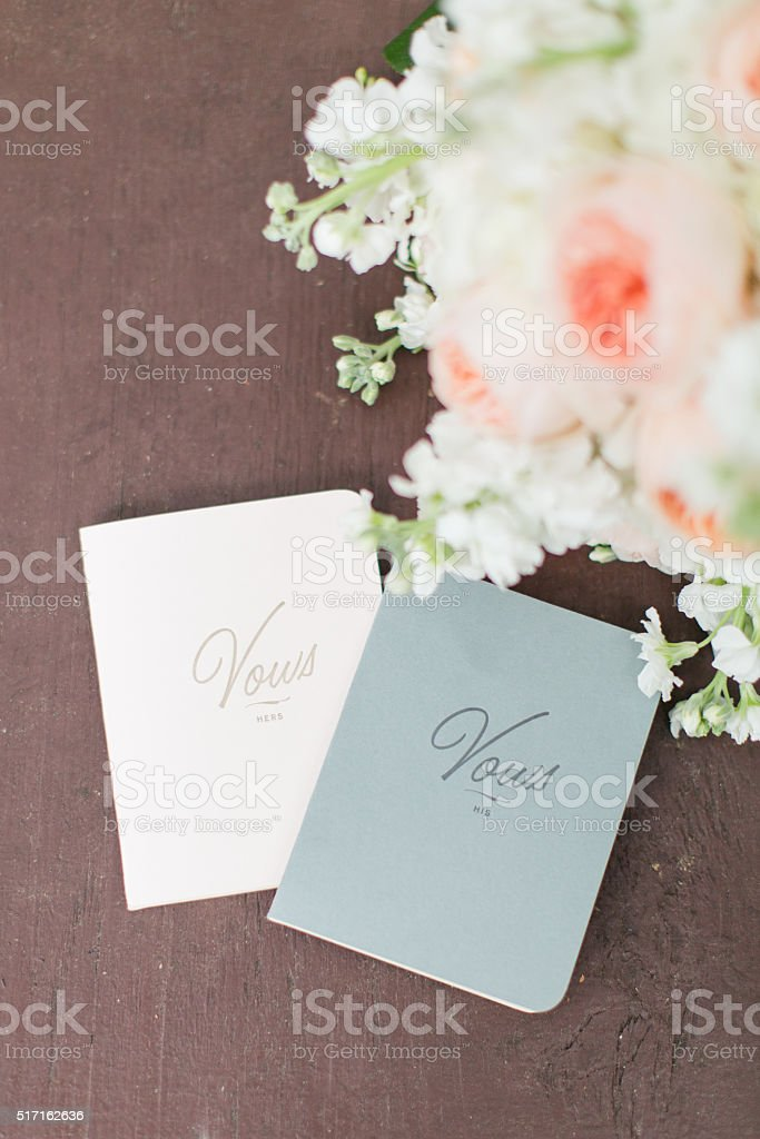 Vow Books stock photo