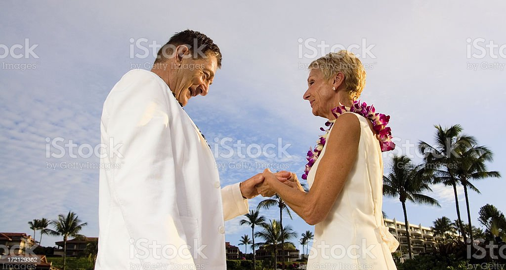 Vow Renewal stock photo