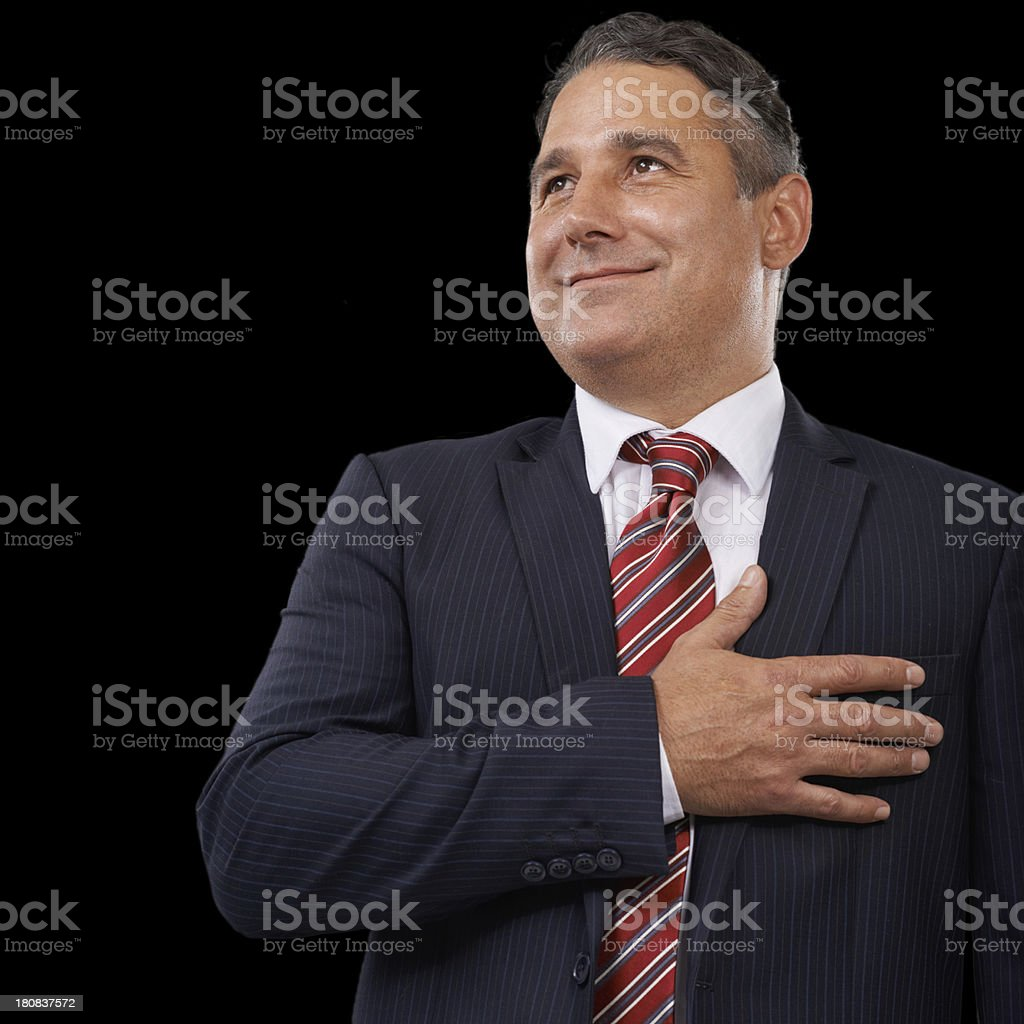Vowing to be better than his predecessor royalty-free stock photo